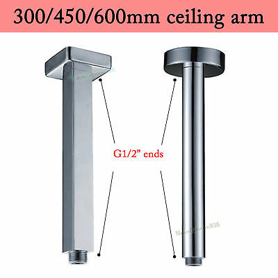 AAA NEW Round & Square Ceiling Extension Arm Dropper For Bathroom Shower Head
