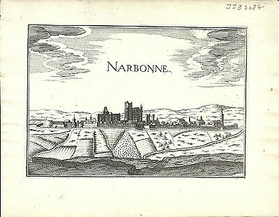 Antique map, Narbonne
