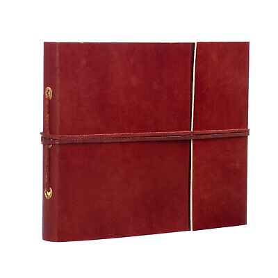 Fair Trade Handmade Eco Small Plain Leather Photo Album Scrapbook