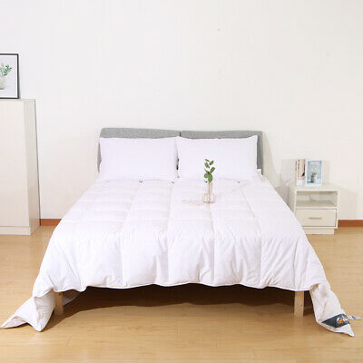 7 FT Emperor Bed Size Duvet Quilt 10.5 Tog White Goose Feather & Down