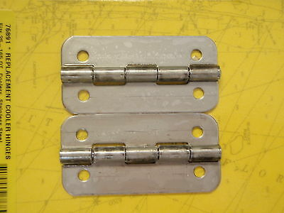 Igloo Cooler Hinges Stainless Steel 76891 Pair Fits 25 Thru 165 Qt Coolers Usa