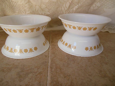 """CORELLE BUTTERFLY GOLD 6"""" SOUP/CEREAL BOWLS SET OF 4"""