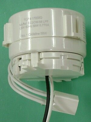 17058Q TCP Electronic Ballast & Hardwire adapter EC2CW-58 LPF for 58W Circline