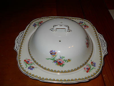 """W. H. Grindley & Co., Ltd. England """"Ivory"""" 2 pc. Cheese/Butter Dish"""