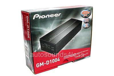 Pioneer GM Digital Series GM-D1004 400 Watt 4-Channel Class FD Car Amplifier New