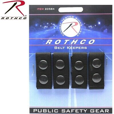 Police Security Tactical Black Enhanced Belt Keepers (4 Piece Set) 20584