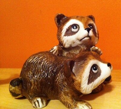 Home Interiors Homco Porcelain Animal Baby Raccoon Figurine