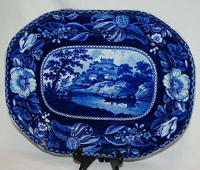 RARE Clews Staffordshire Historical Blue Near Guildford Select Scenery Platter