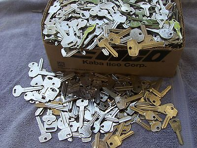 Lot of Misc SILVER    Key Blanks 4  lbs   HOUSE, CAR, etc . UN-CUT. Made in USA