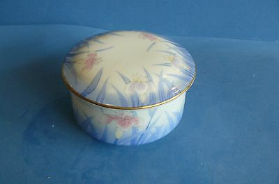"""Auth Vtg Rare Japanese Small Porcelain Hand Painted Trinket Box Signed""""Gorgeous"""""""