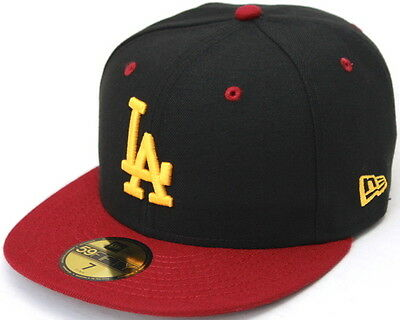 super popular 9c34a 4f7be MLB Los Angeles Dodgers in Black with USC Colors New Era 59Fifty Fitted Hat
