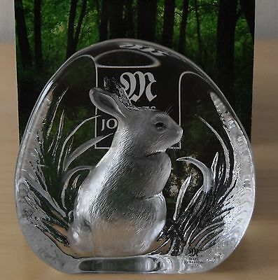 RABBIT  MATS JONASSON   CRYSTAL RELIEF  Maleras Sweden  FREE INSURED SHIPPING