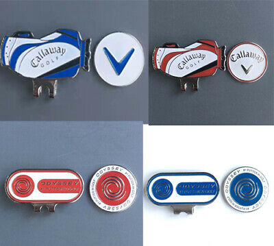 Brand New! Metal Golf Ball Marker Magnetic Hat Clip