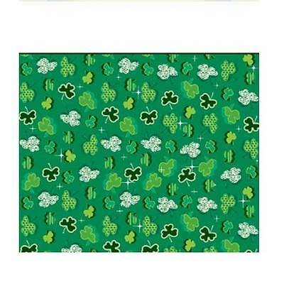 Creative Converting St. Patrick's Day Plastic Banquet Table Cover with Shamrock