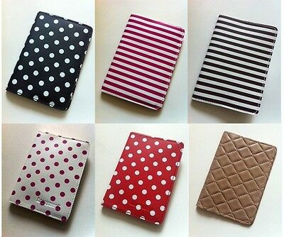 Women passport holder polka dots travel case cover faux leather GIFTS cute girl