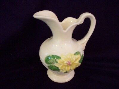 Hull U.S.A. Water Lily Glossy Pitcher with Yellow Flower's