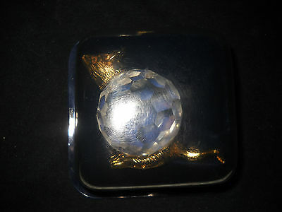 24KT Gold plated Crystal Menargerie Mouse Paperweight - Italy