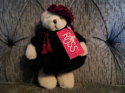 Russ Sasha Bear lady plush with tag 8""