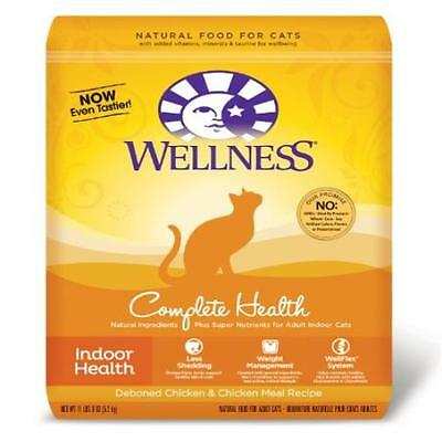 Wellness Dry Cat Food For Adult Cats Indoor Health Recipe 11-Pound 8Oz Bag New