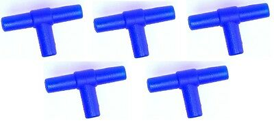 5x Air Ligne Tee Connectors Pour Joining Aquarium Airline X5 (S280)