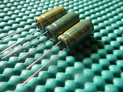 50PC SANYO 16V 1500UF ULTRA LOW ESR CAPACITOR 10X20mm