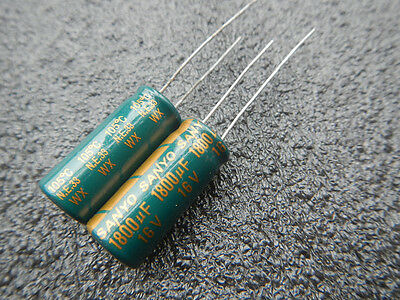 20,SANYO 16V 1800UF WX ULTRA LOW ESR CAPACITOR 10X23mm