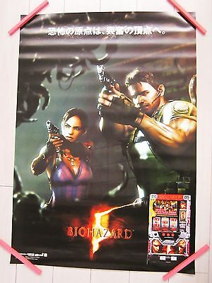 NEW!! Pachi-slot Limited Resident Evil 5 V Biohazard Big Poster a
