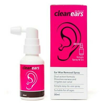 Best Price! Clean Ears Ear Wax Removal Spray Dual Action 30Ml Cleanears