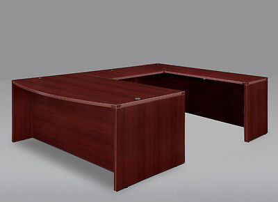 New Amber Bowfront U-Shape Executive Office Desk Shell