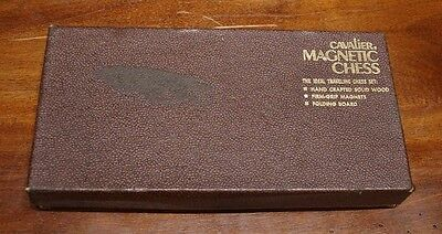 Vintage Cavalier traveling Magnetic Chess Set No. 1433 Pacific Game Made in USA