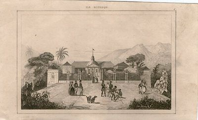 1841-Stampa Antica- Ile Bourbon  By -Old Print-14