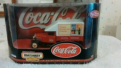 """COCA COLA """"1932 FORD MODEL AA"""" TRUCK MATCHBOX COLLECTIBLES"""