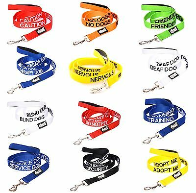 Safety Warning Protection Comfort Grip Padded Handle Luxury Dog Leads Or Collars