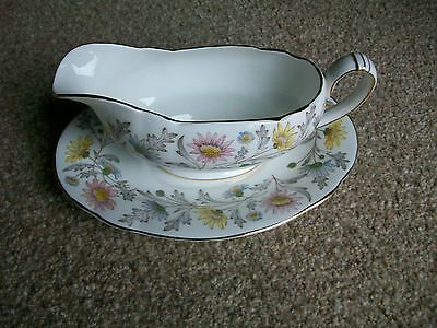 Foley 'Somerset' Gravy/Sauce Boat + Plate by Donald Brindley