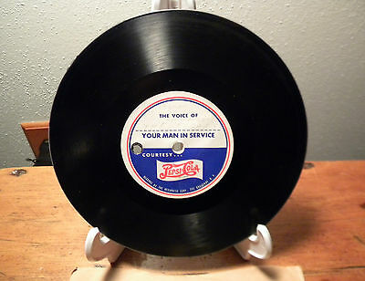 "Vtg WWII Pepsi Cola Double Dot 45 RPM Record ""Your Man in Service"" Soldier"