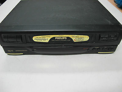 Phillips VHS Video Cassette Recorder MODEL : VR256/75  Tested Working no Remote