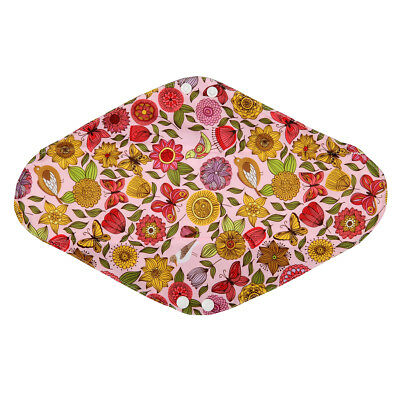 "1 Overnight 14"" Sunflower Washable Bamboo Cloth Mama Menstrual Sanitary Pad"