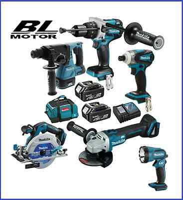 Makita 18V 5.0Ah Li-ion 6pce Cordless Brushless Combo Kit Latest Model Aus Stock