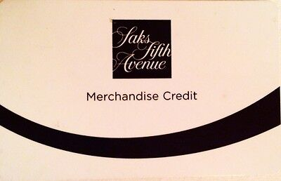 SAKS FIFTH AVENUE Store Credit ($118.97)
