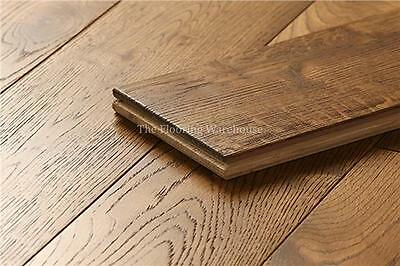 18mm x 125mm Brushed Wheat Solid Oak Flooring Real Wood Wooden Floors Hardwood