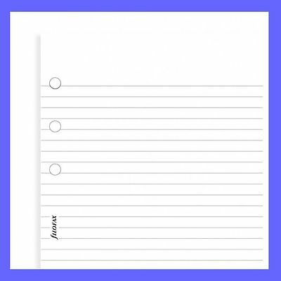 Filofax A5 Size White Ruled (Lined) Note Paper Insert Refill 343008