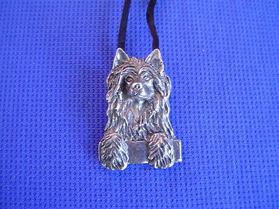Puff Chinese Crested necklace pewter #22M Toy Dog Jewelry by Cindy A. Conter