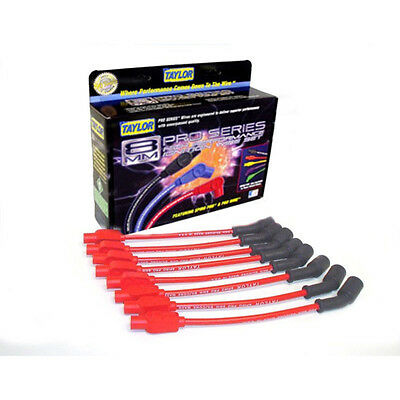 Taylor Cable 72205 Spark Plug Wire Set; Spiro Pro Red 8mm Spiral Core for Chevy