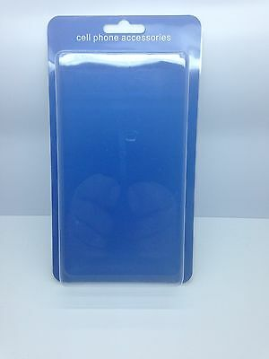 "Lot Of 50 New Cell Phone Accessory Blister + Insert 8"" X 4"".5 X 1"" Blue"