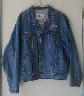 Planet Hollywood Atlanta blue jeans denim jacket mens Large EXCELLENT CONDITION
