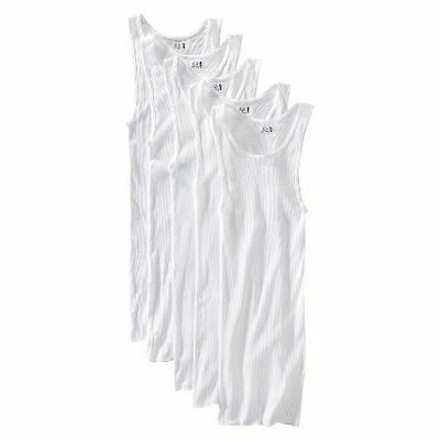 NEW Fruit of the Loom Men's A-Shirts 3, 5, 6, 7, 10 or 12 pack -White -CLEAR BAG