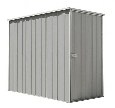 YardSaver Slimline F36 2.105m x 1.07m Flat Roof Side Entry Zinc