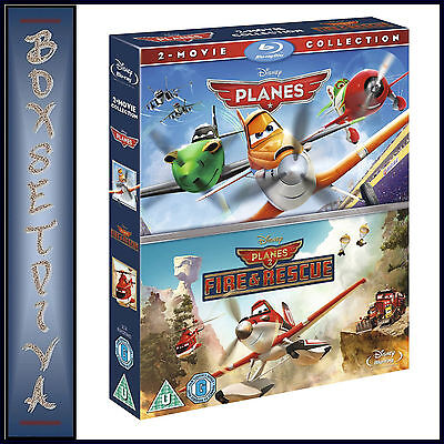 Planes & Planes 2 - Disney 2 Movie Collection **brand New Blu-Ray Region Free***