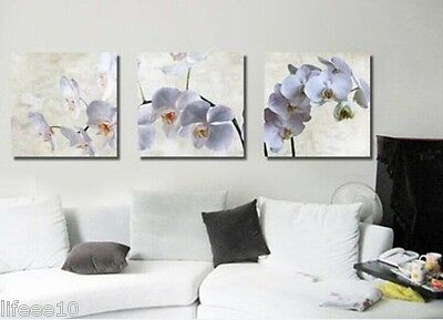 Modern Absract Flowers Handcraft Oil Painting Canvas Decor Wall 3PC No Frame