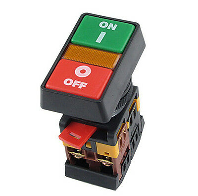 ON OFF START STOP Push Button w Light Indicator Momentary Switch Red Green